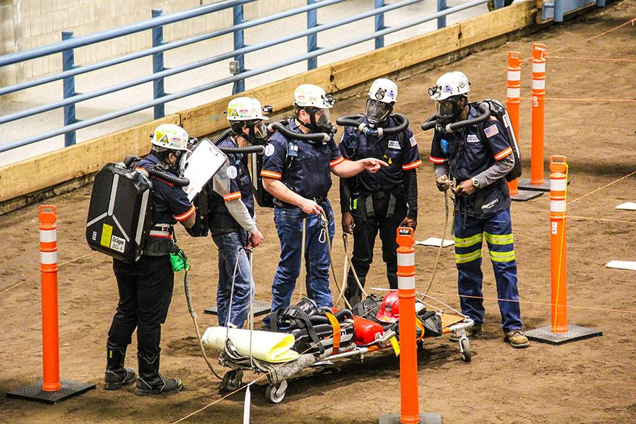 students compete in the spring 2019 mine rescue contest